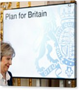 The British Prime Minister Delivers Her Brexit Speech Acrylic Print