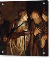 The Denial of Saint Peter Acrylic Print