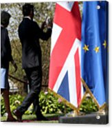 UK PM Teresa May Holds Talks With Italian PM Matteo Renzi Acrylic Print