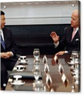 Vice President Biden Holds Bilateral Meeting With Chinese Vice President Xi Jinping Acrylic Print