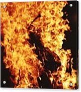 Closeup of Fire at time of festival Acrylic Print