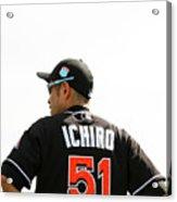 Ichiro Suzuki Acrylic Print