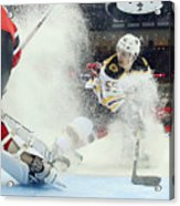 Boston Bruins v New Jersey Devils Acrylic Print