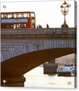 Commuters Use New High-Speed Catamaran Clippers Operated By MBNA Thames Clippers Acrylic Print