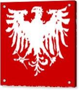 Eagle Studio Logo, white, custom background Acrylic Print