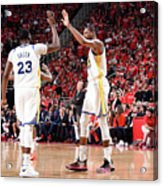 Draymond Green and Kevin Durant Acrylic Print