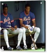 Dwight Gooden and Darryl Strawberry Acrylic Print