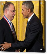 President Obama Awards National Medals Of Science And Nat'l Medals Of Technology And Innovation Acrylic Print