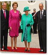 Queen Elizabeth II's Historic Visit To Ireland - Day One Acrylic Print