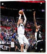 2021 NBA Playoffs - Dallas Mavericks v LA Clippers Acrylic Print