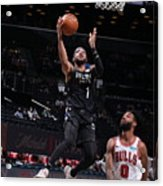 Chicago Bulls v Brooklyn Nets Acrylic Print