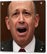 Goldman Sachs Executives Testify At Senate Hearing On Financial Crisis Acrylic Print