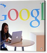 Google Holds News Conference Acrylic Print