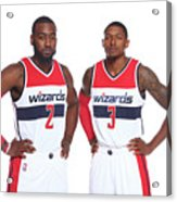 John Wall and Bradley Beal Acrylic Print