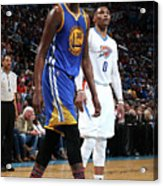 Kevin Durant and Russell Westbrook Acrylic Print