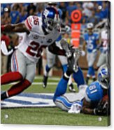 New York Giants v Detroit Lions Acrylic Print