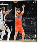 Oklahoma City Thunder vs. San Antonio Spurs Acrylic Print
