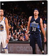 Stephen Curry and Seth Curry Acrylic Print