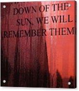 The UK Observes Remembrance Sunday Acrylic Print