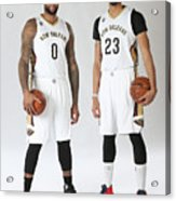 Demarcus Cousins and Anthony Davis Acrylic Print