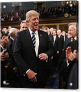 Donald Trump Delivers Address To Joint Session Of Congress Acrylic Print