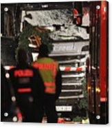Lorry Drives Through Christmas Market In Berlin Acrylic Print