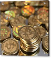 Utah Software Engineer Mints Physical Bitcoins Acrylic Print