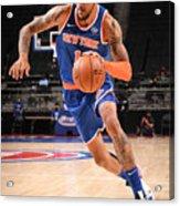 New York Knicks v Detroit Pistons Acrylic Print
