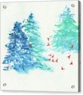 A Happy Flock  Acrylic Print