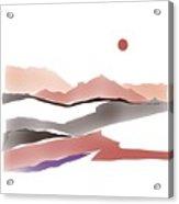 Abstract Rocks Acrylic Print