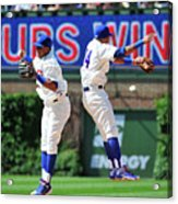 Addison Russell and Starlin Castro Acrylic Print