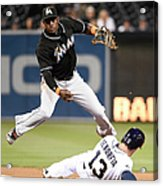 Adeiny Hechavarria And Chris Denorfia Acrylic Print