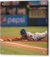 Adrian Beltre and Yunel Escobar Acrylic Print