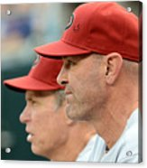 Alan Trammell and Kirk Gibson Acrylic Print