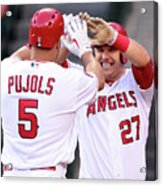 Albert Pujols and Mike Trout Acrylic Print