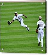 Alejandro De Aza and Michael Brantley Acrylic Print
