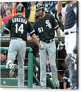 Alex Rios and Paul Konerko Acrylic Print