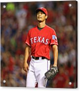 Alex Rios, David Ortiz, and Yu Darvish Acrylic Print
