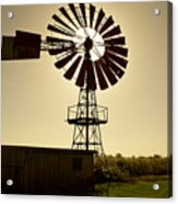 American-style windmill in backlight Acrylic Print