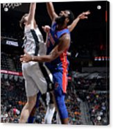 Andre Drummond and Jakob Poeltl Acrylic Print