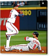 Andrelton Simmons and Danny Espinosa Acrylic Print