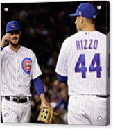 Anthony Rizzo and Kris Bryant Acrylic Print