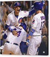 Anthony Rizzo, Kris Bryant, and Javier Baez Acrylic Print