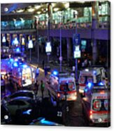 At Least 10 Killed In Suicide Bomb Attack On Ataturk International Airport In Istanbul Acrylic Print