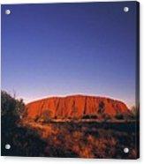 Ayers Rock at Sunset Uluru Nat. Park Northern Territory Australia Acrylic Print