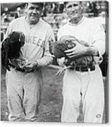 Babe Ruth and Walter Johnson Acrylic Print