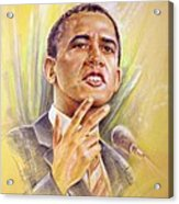 Barack Obama Yes We Can Acrylic Print