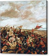 Battle of Poitiers on September 19, 1356 Acrylic Print