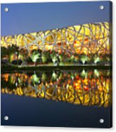 Beijing Olympic statium at night Acrylic Print
