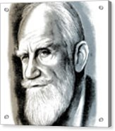 Bernard Shaw - Mixed Media Acrylic Print